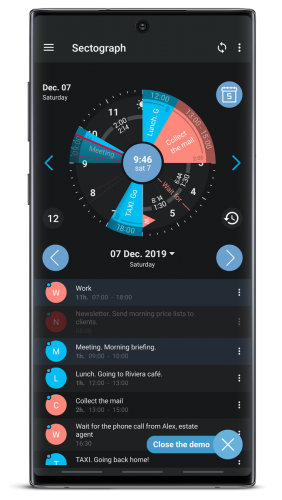 Sectograph. Planner & Time manager Pro MOD APK