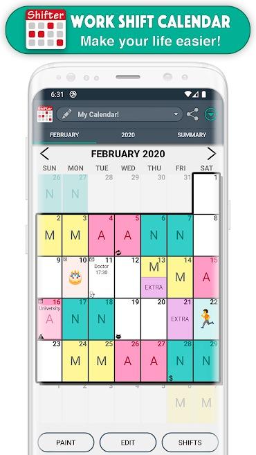 Work Shift Calendar Pro Mod Apk