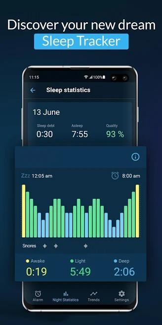 Sleepzy Sleep Cycle Tracker & Alarm Clock
