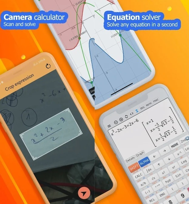 Camera math calculator - Take photo to solve