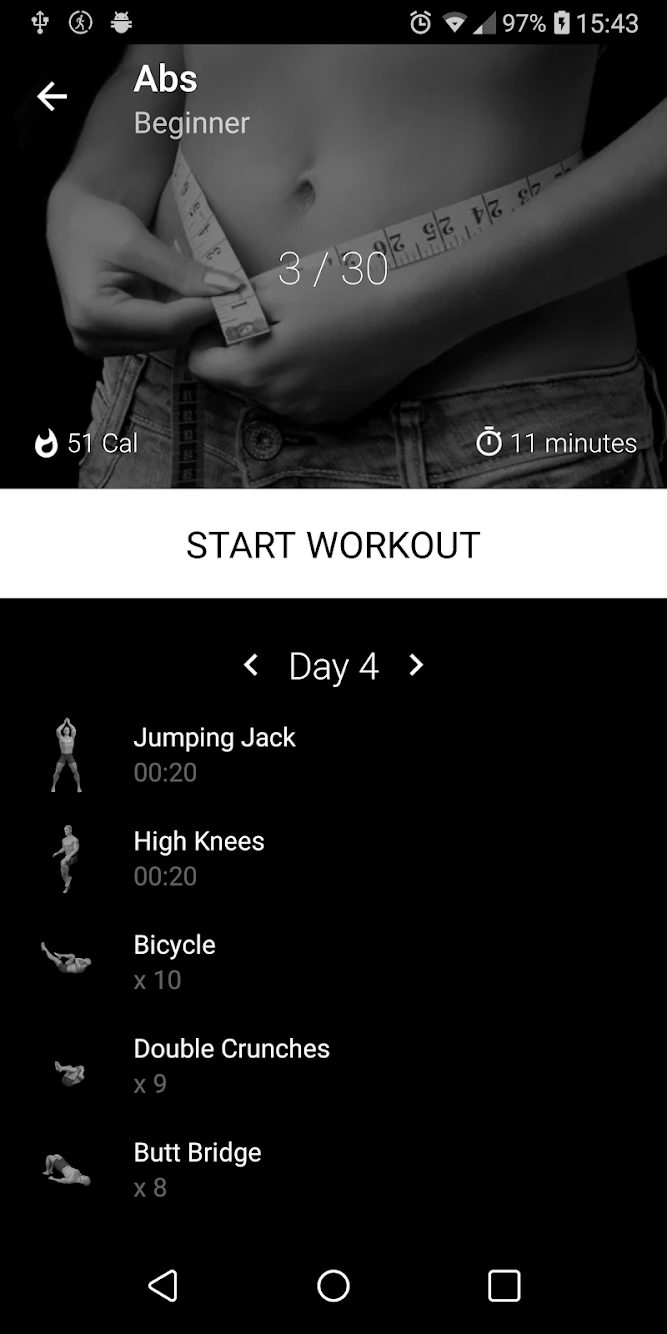 Six Pack in 30 Days. Abs Home Workout PRO MOD APK
