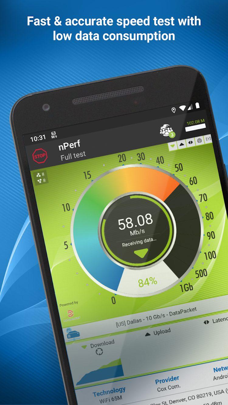 nPerf Speed test 3G, 4G, 5G, WiFi Premium Cracked APK