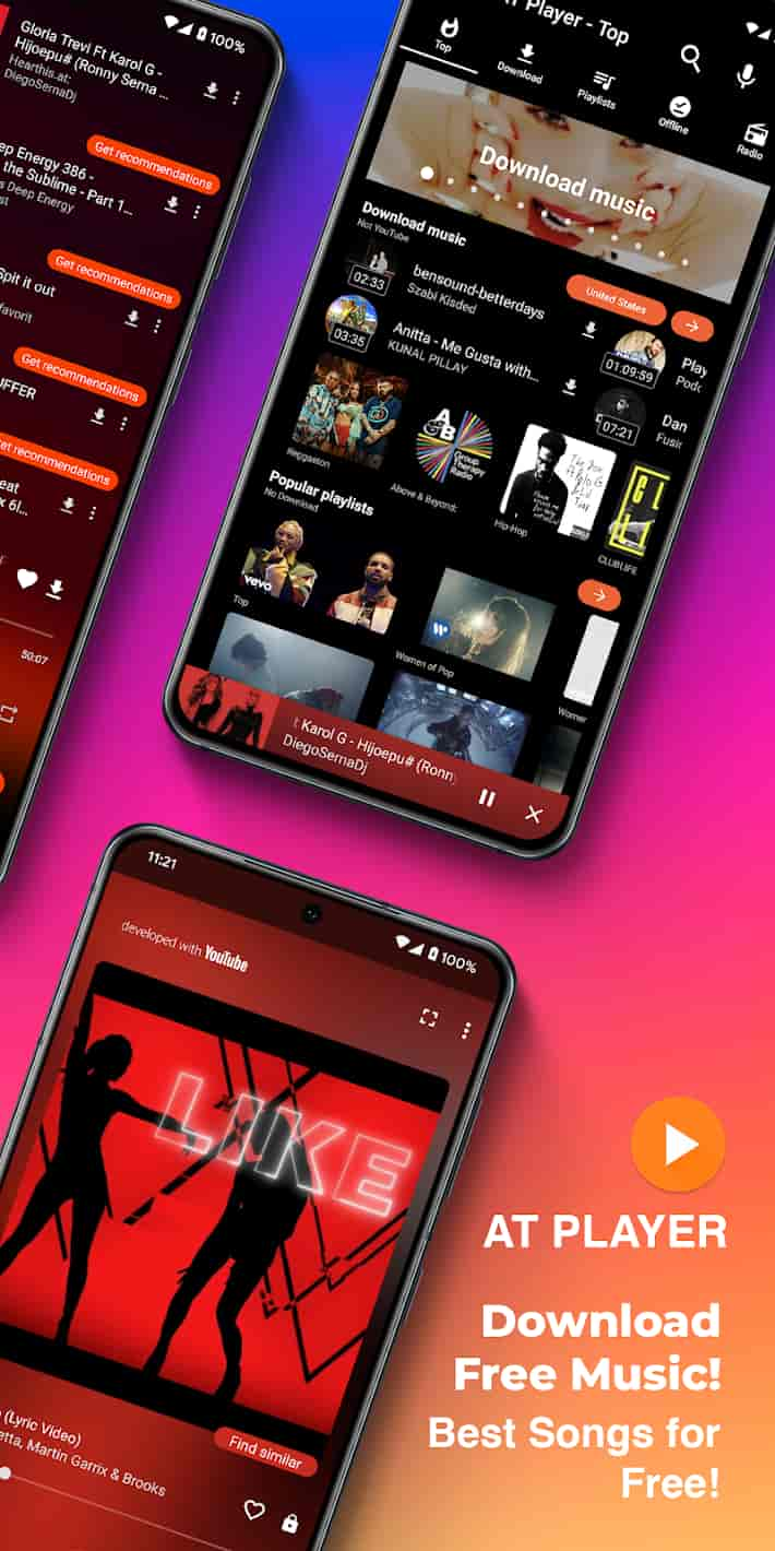 Free Music Downloader Download MP3. YouTube Player MOD APK