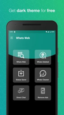 Whats Web for WhatsApp dark mode