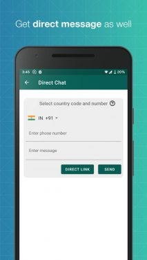 Whats Web for WhatsApp direct chat