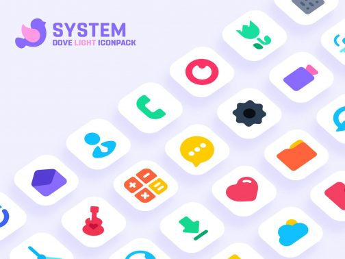 Dove Light Icon Pack Patched APK