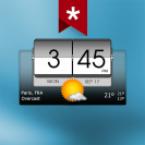 3d flip clock weather ad free