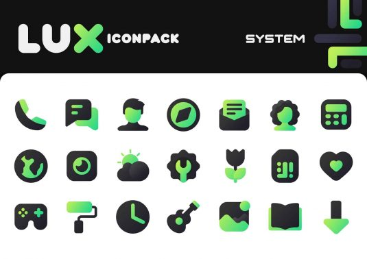Lux Green Icon Pack APK