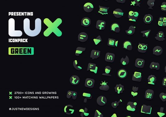 Lux Green Icon Pack Patched APK